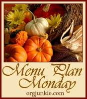 menu plan monday Thanksgiving