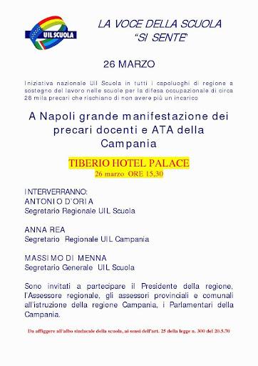 20/03/09 Napoli: Assemblea della UIL SCUOLA Uill