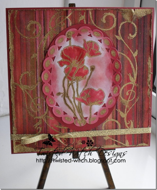 Red Poppy  Easel