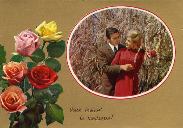 Cartes Postales Pop et  Kitsch des années 50, 70 et 70 - Pop and kitsch vintage postcards from the fifties, the sixties and the seventies : Golden Love