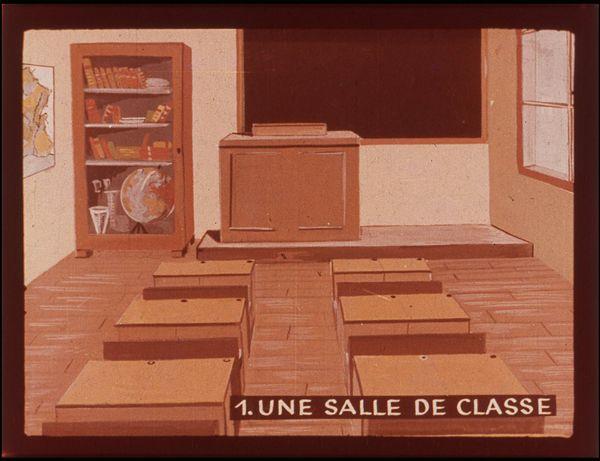 Films fixes et publicités de quartier (educational filmstrips) sur www.filmfix.fr : Etude de la carte