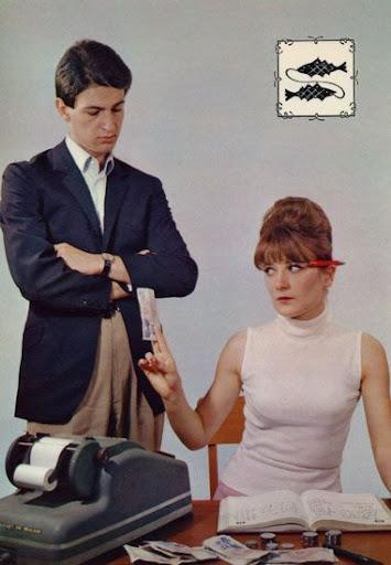 Cartes Postales Pop et  Kitsch des années 50, 70 et 70 Zodiac Lovers / Amoureux du Zodiaque