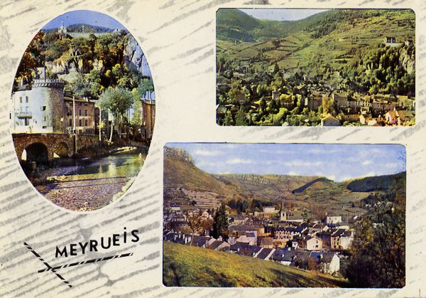 Cartes Postales Pop et  Kitsch des années 50, 70 et 70 - Pop and kitsch vintage postcards from the fifties, the sixties and the seventies : Fenêtres sur campagne