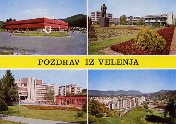 Cartes Postales Pop et  Kitsch des années 50, 70 et 70 - Pop and kitsch vintage postcards from the fifties, the sixties and the seventies : Pozdrav Iz Velenja