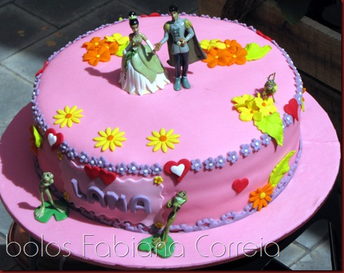 bolo a princesa e o sapo