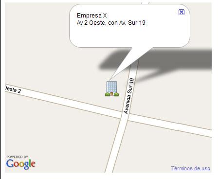Croquis de ubicación con google map API