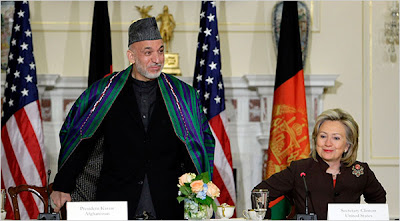 Karzai and Clinton