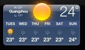 Guangzhou weather forcast