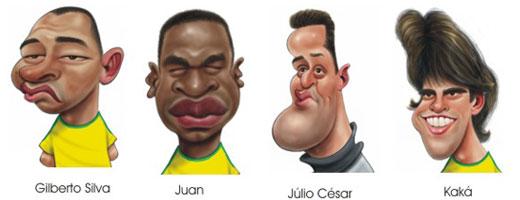 Detalhe da selecção do Brasil