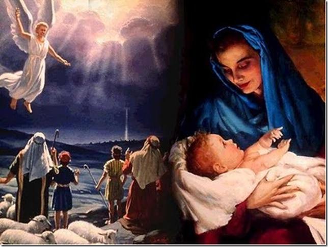 NAVIDAD MARIA Y EL NIÑO JESUS