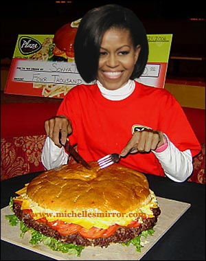 michelle obama  and burgers