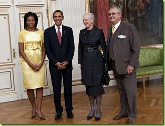 Danish queen obamas
