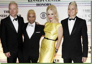 Gabriel McNair, from left, Tony Kanal, Gwen Stefani, and Jim Guerinot,