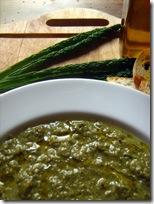 zuppa di gambi di cavolo nero