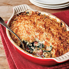 Oyster–Swiss Chard Gratin with Country Bacon
