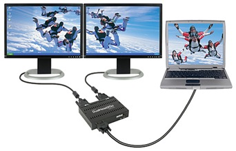 supporting tech: matrox dualhead2go extend desktop