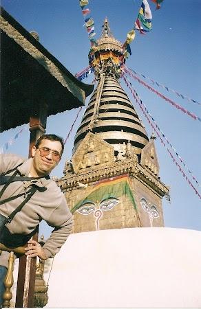 Obiective turistice Nepal: templul maimutelor Kathmandu