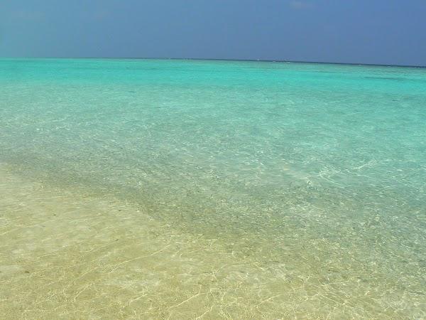 Imagini Maldive: Velassaru nisip, mare si pesti