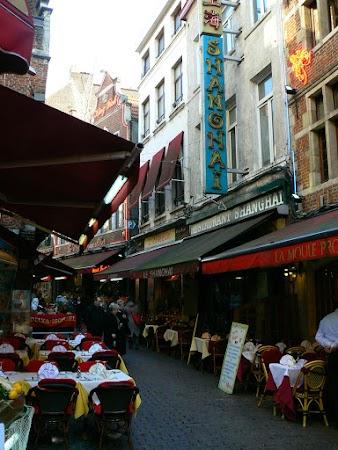 Obiective turistice Belgia: Seafood street, Bruxelles