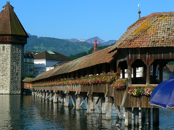 Imagini Elvetia: Kappelbrucke, Luzern