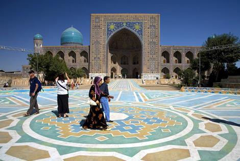 Obiective turistice Uzbekistan: Registan Square Samarkand, Drumul spre China