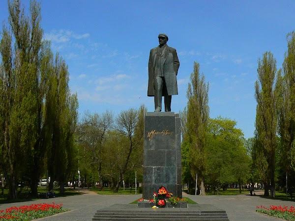 Obiective turistice Ucraina: statuia lui Lenin.JPG