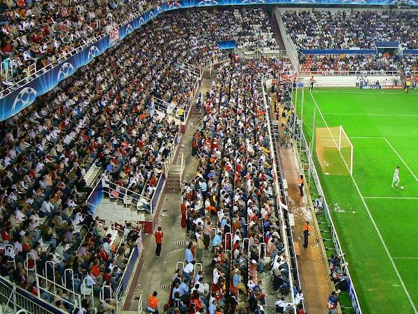 Obiective turistice Spania: tribuna stadionul Ramon Sanchez Pizjuan