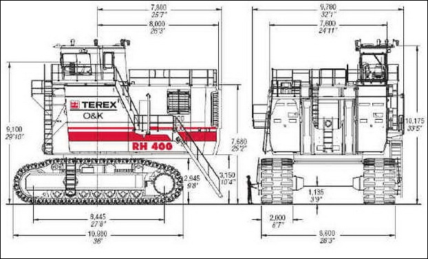 TEREX RH400 worlds largest hydraulic shovel 12