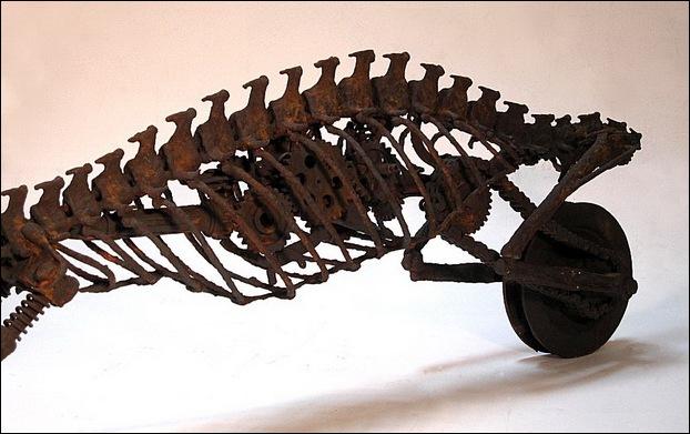 Dinosaur Motorcycle Sculptures 2