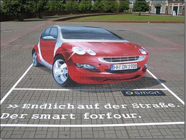 Street Art 3D cars 01