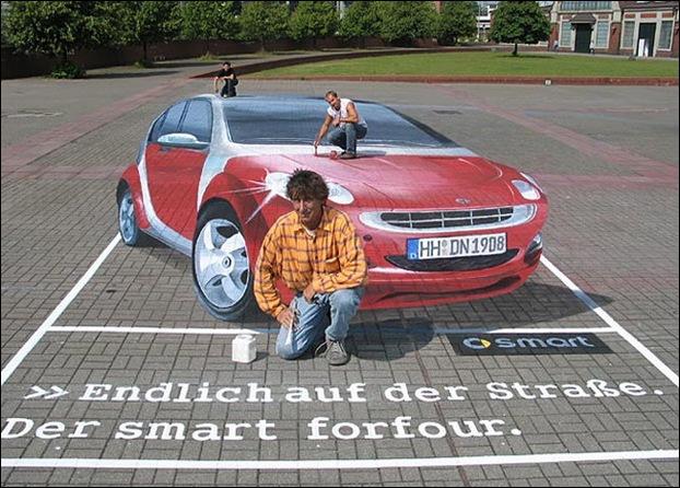 Street Art 3D cars 02