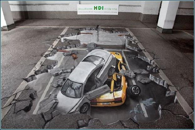 Street Art 3D cars 03