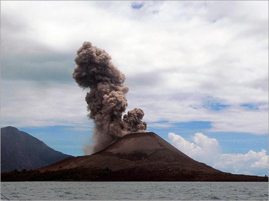 Krakatoa Volcanic Island
