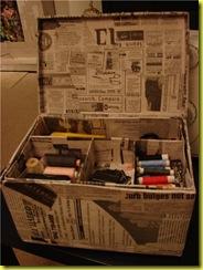 чемодан из газет