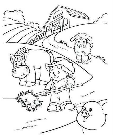Dibujo para colorear del dia del agricultor - Imagui