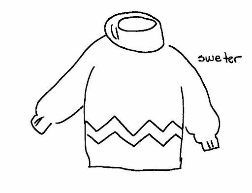 Dibujos para colorear sueter - Imagui