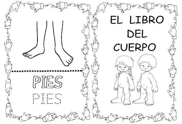 EL CUERPO HUMANO FICHAS PARA PINTAR Y REPASAR