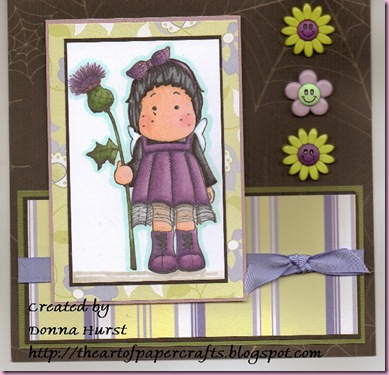 Tilda with Thistle for jeri card