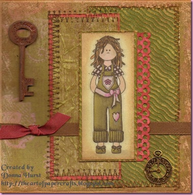 tammy card stitched