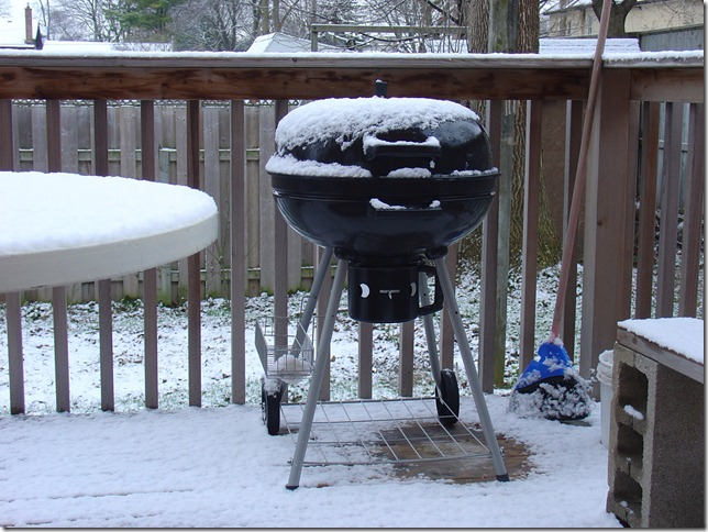 snow on the barbeque