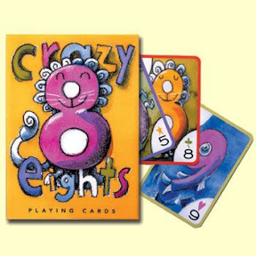 Crazy Eights Playing Cards by Eeboo