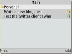 Screenshot of Mobile Task Manager