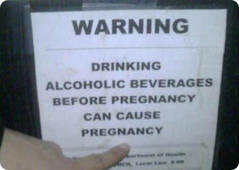 alchol embarazo