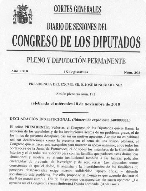 dia desaparecidos congreso