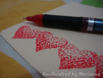 Ink Heart Close up