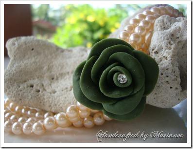 Green Rose Bracelet