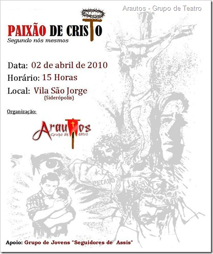 Cartaz - Paixão de Cristo
