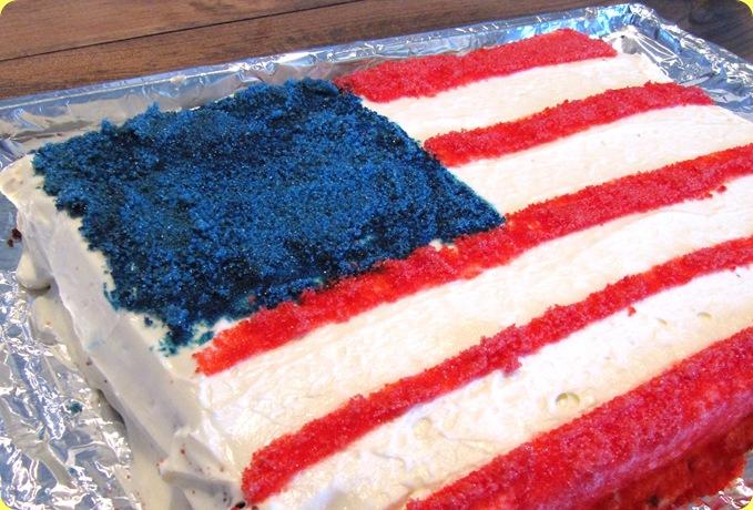 flag cake blog