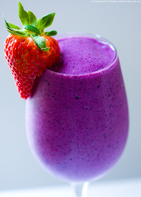 Vegan Banana Berry Smoothie