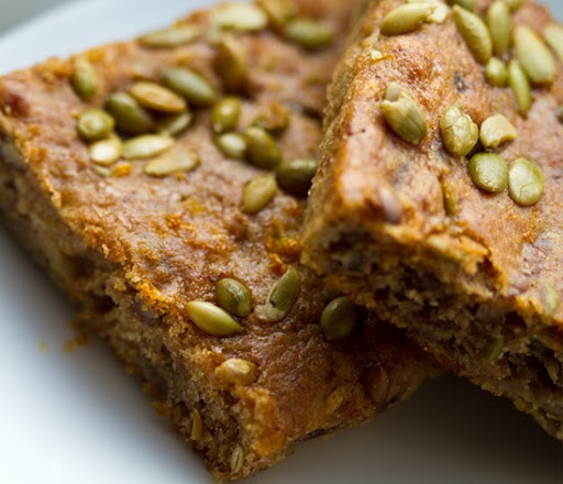 bake for 15-20 minutes depending on how thick your bars/muffins are ...